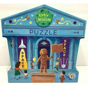 """Day at Space Museum Puzzles 48 Pcs 18""""x24"""" Age 4+"""
